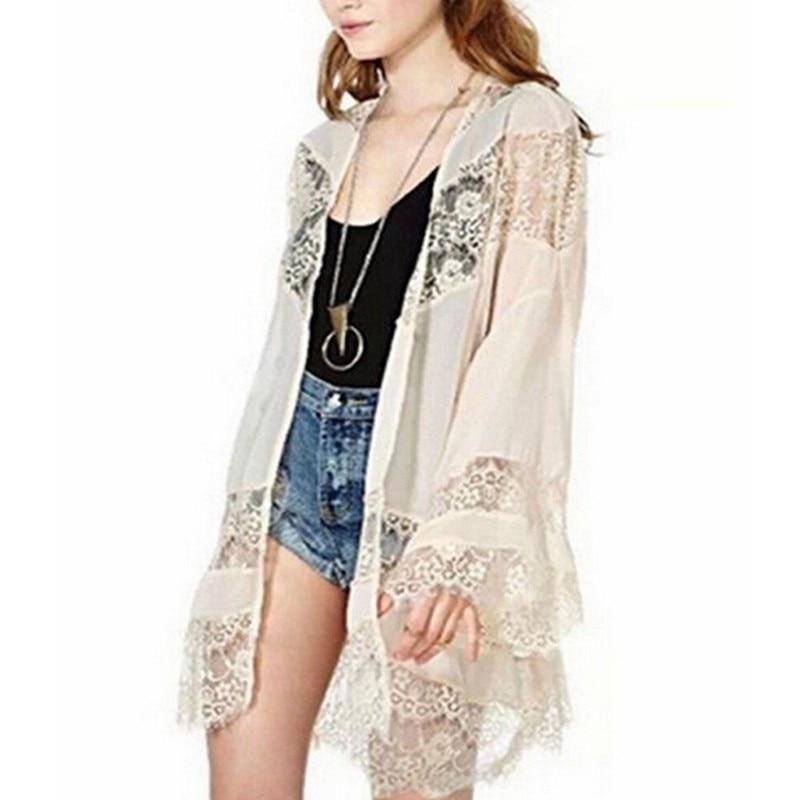 Zanzea cardigan kimono feminino plus size, casual,