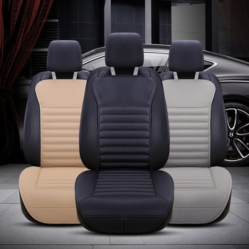 Areyourshop Car Universal PU Leather Buckwheat Hull Car Front Seat Cover Cushion Full Surround Breathable Car Auto accessories фото