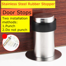 Double Use Door Stops with 3M Glue or Screws Suction Anti-Collision Stainless Steel Rubber Stopper Turtle Has Binding Resistance(China)