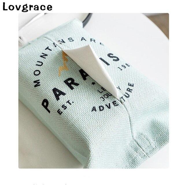 Lovgrace Frete Grátis Cotton Linen Tissue Box Toalha Guardanapo Dispenser Caso Caixa do Tecido Carro Saco de Armazenamento De Papel Cobrir Titular Decoração