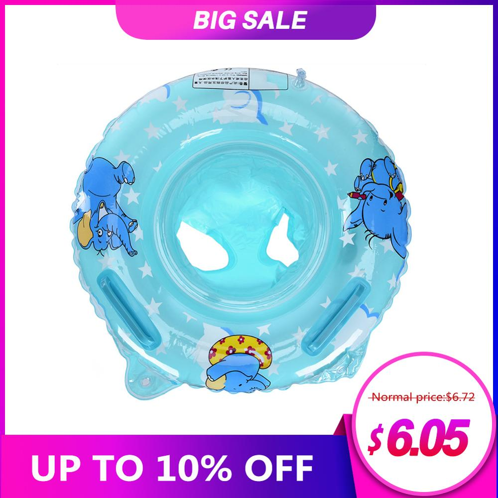 New ArrivalDouble Handle Safety Baby Seat Float Swim Ring Inflatable Infant Kids Swimming Pool Rings Water Toys Swim Circle