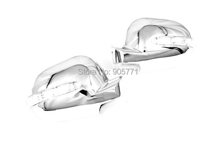 High Quality Chrome Side Mirror Cover with LED Side Blinker for Mercedes Benz W163 ML Cl ...