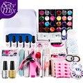 36 W UV GEL Lámpara Blanca y cualquier 5 Color UV Gel Nail Art Herramientas Sets Kits de uñas nails & herramientas de uñas de gel kit polaco base top coat Sets