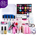 36W UV GEL White Lamp & any 5 Color UV Gel Nail Art Tools Sets Kits nail gel nails & tools nail polish kit base top coat Sets