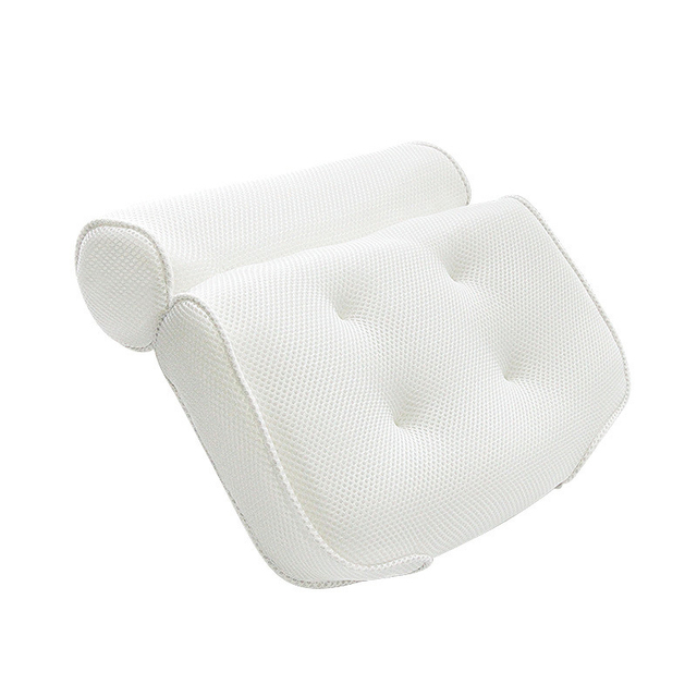SAFEBET Thickened Bath Pillow Soft SPA Headrest Bathtub Pillow With Backrest Suction Cup Neck Cushion Bathroom Accessories 5
