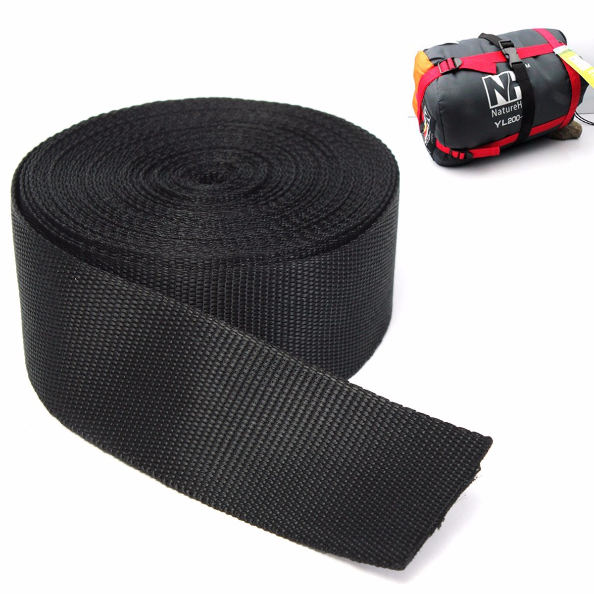 Buy 2 Get One Free Learned Black 50mm 2 Inch Nylon Webbing X 10 Meters Outdoor Sports Sporting Goods