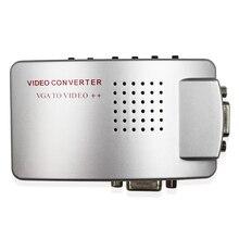 Premium PC Laptop VGA to AV RCA TV Monitor S-video Signal Adapter Converter VGA2AV Switch Box