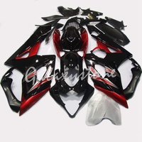 ABS Injection Molding Black & Red Painted with Graphic Fairing Kit for Suzuki GSXR 1000 K5 2005 2006