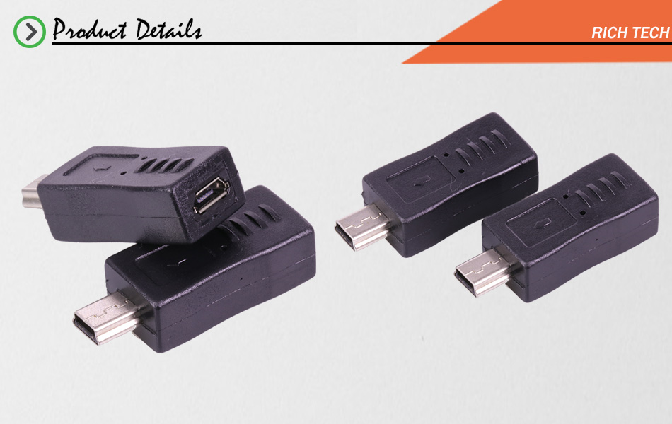 №3pcs Micro USB female to MINI USB connector USB adapter USB2.0 ...