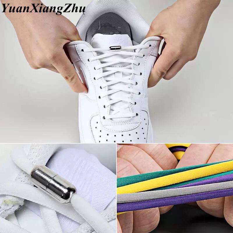 19 Color Semicircle Shoe Lace Elastic Locking Shoelaces Kids Adult Sneakers Quick Shoelace Lazy Shoe Laces Shoestrings 1Pair19 Color Semicircle Shoe Lace Elastic Locking Shoelaces Kids Adult Sneakers Quick Shoelace Lazy Shoe Laces Shoestrings 1Pair