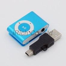 Sport 3.5mm Mini MP3 Players Micro USB Metal Clip