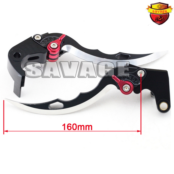 For HONDA CBR600RR CBR1000RR 2008-2015 Black Knife Blade CNC Aluminum Brake Clutch Levers with logo 9 color cnc brake clutch levers blade for 2000 2001 honda cbr929rr cbr 929 rr