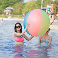 120cm Large Giant Inflatable Beach Ball Beach Play Sport Summer Toy Swimming Pool Party Game Ball Outdoor Fun Balloon PVC Ball