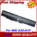 JIGU 5200mah laptop battery A32-A15 A41-A15 A42-A15 A42-H36 for MSI A6400 CR640 CR640MX CR640X CX640 CX640X