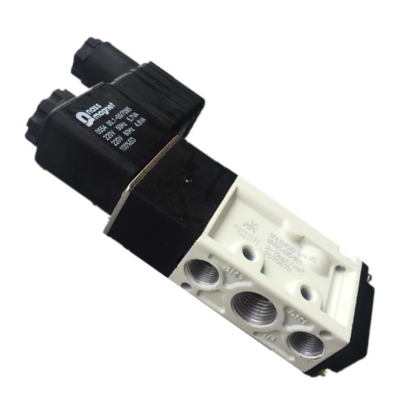 MVSC-220-4E1 2/5 way Pneumatic solenoid valve 1/4 220VAC Pneumatic parts ,air control valve Directional control smc type pneumatic solenoid valve sy5120 3lzd 01