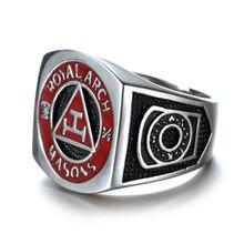 Faitheasy Vintage Men Masonic Rings Stainless Steel Jewelry Wedding Band for Men Retro Titanium Punk Rings