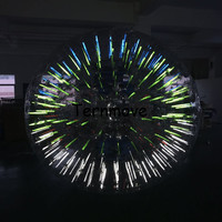 Glow Lights in Dark Water Rolling ball for water games Walking Zorb Ball With light bar Colourful Inflatable Water Roller