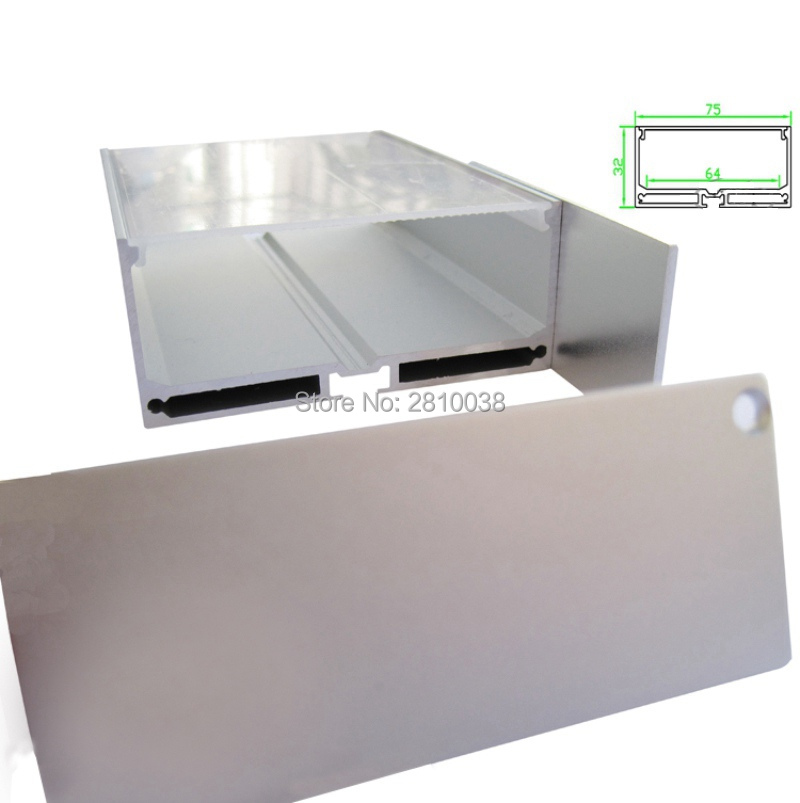 10X1M Sets / Lote Perfil de aluminio anodizado plateado para tiras de - Iluminación LED - foto 1