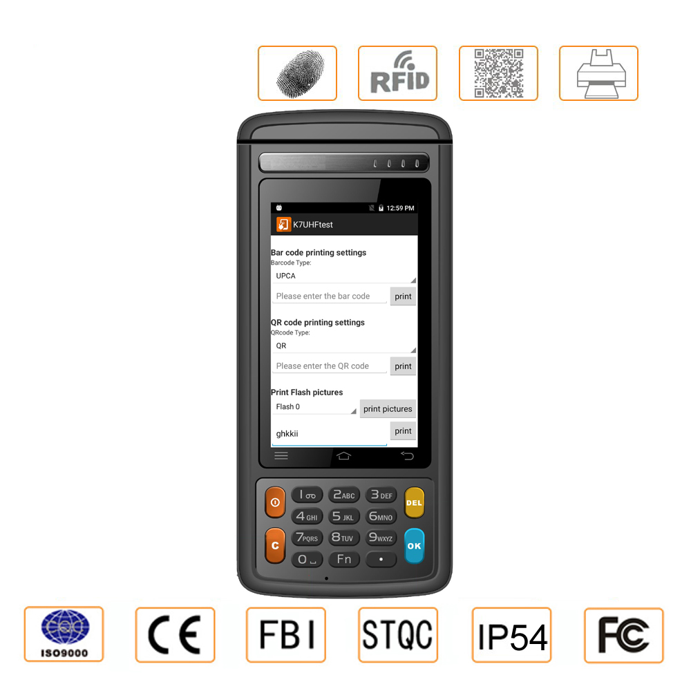 Industrial Computer & Accessories 5 Inch Android 5.1 2d Barcode Thermal Print And Fingerprint Handheld Terminal At All Costs
