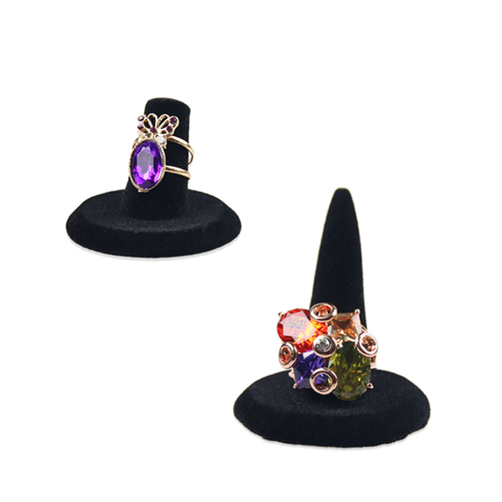 Fashion Black Resin Ring Finger Stand Jewelry Display Store Holder For Jewelry Ring Show