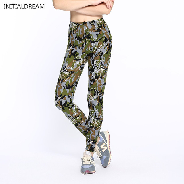 2016 winter leggings  fitness Camouflage women print leggings Trouser Army Pants Stretch Leggings for female leggings printed
