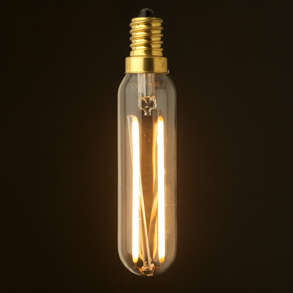2W,Edison T20/T6 LED Light Bulb,Tubular Style Candelabra Filament lamp,Warm White,E12 E14 Base ,Dimmable