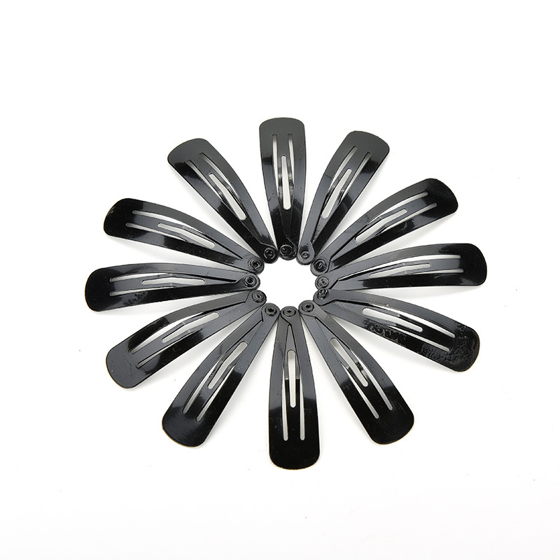 10/60/100 Pcs/lot Baby Hair Snap Clips Accessories For Women Black Hairgrips Barrettes Head Hairpins Jewelry Wholesale
