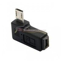 100pcs/bag 90 Degree Right Angled Mini USB Female to Micro USB 2.0 Male Data Sypc Power Adapter