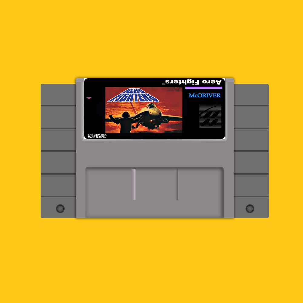 Aero Fighters 46 Pin 16 Bit Grey Game Card For USA NTSC Game Player