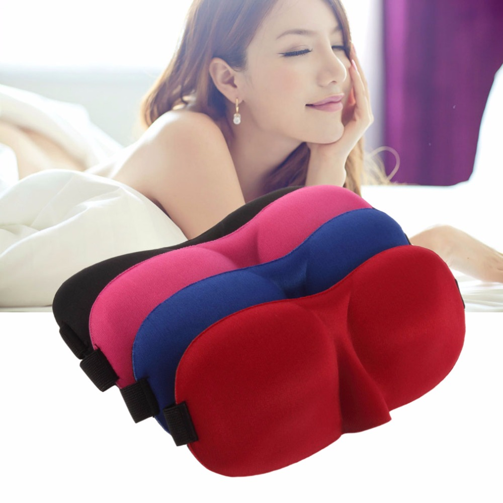 Outdoor Travel Sleeping Aid Fashionable Sleeping Eye Mask Blindfold Cover Light Guide Sponge Eyeshade Eye Mask Black/Red/Blue promotion 4pcs embroidery baby girl crib nursery bedding set cot kit set applique include bumper duvet bed cover bed skirt