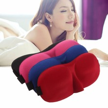 Outdoor Travel Sleeping Aid Fashionable Sleeping Eye Mask Blindfold Cover Light Guide Sponge Eyeshade Eye Mask Black/Red/Blue