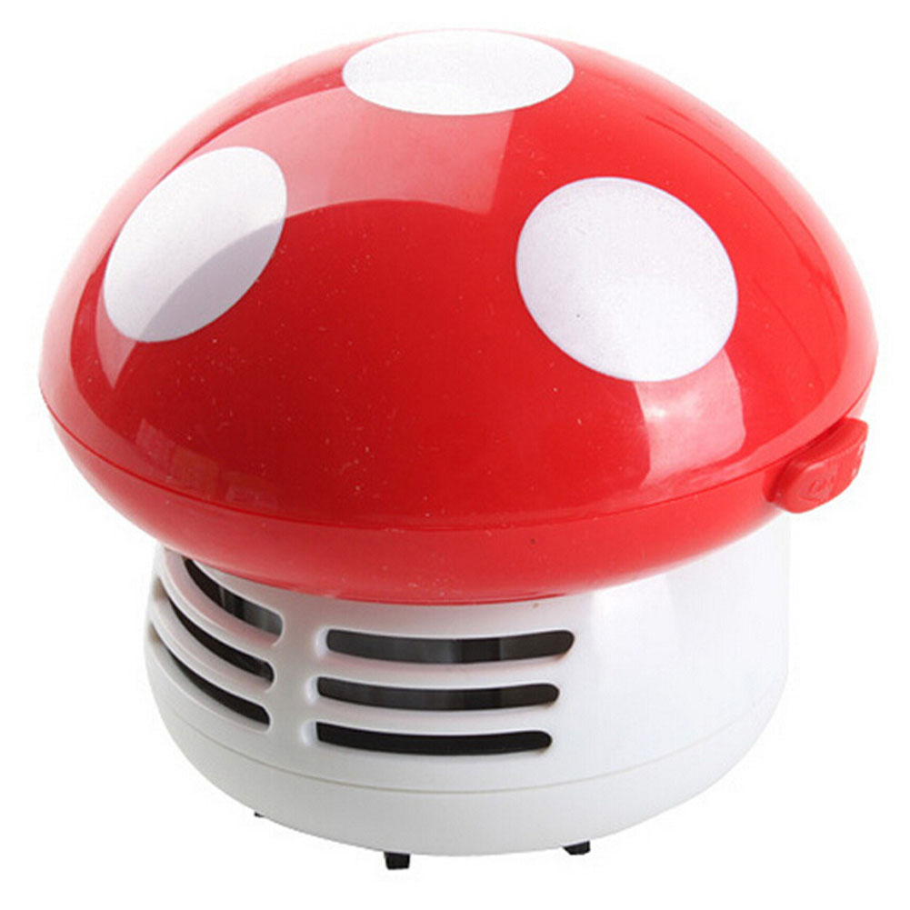 New Home Handheld Mushroom Shaped Mini Vacuum Cleaner Car Laptop keyboard Desktop Dust cleaner-red