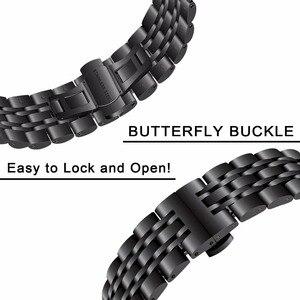 Image 4 - Correa de reloj de acero inoxidable para Samsung Gear S3 Classic Frontier R760 R770, Correa deportiva, pulsera