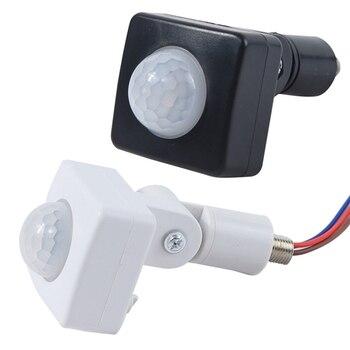 цена на High Quality Automatic 12MM AC 85-265V Security PIR Infrared Motion Sensor Detector Wall LED Light Outdoor 180 Degrees