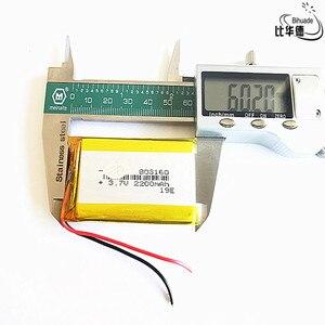 Image 1 - טוב Qulity ליטר אנרגיה סוללה 3.7 V, 2200mAH 803160 פולימר ליתיום יון/ליתיום סוללה עבור tablet pc בנק, GPS, mp3, mp4