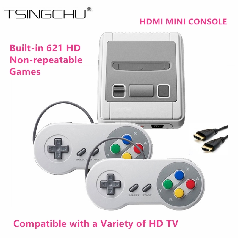 TSINGO New Super Mini HDMI Family TV Video Game Console Retro Classic HD Output TV Handheld Game Player Built-in 621 Games 8Bit nintendo gba video game cartridge console card metroid zero mission eng fra deu esp ita language version