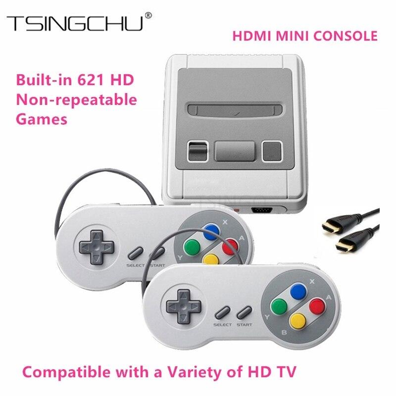 Tsingo новый супер мини HDMI Семья ТВ игровой консоли Ретро Классический HD Выход ТВ Ручные игры Встроенный 621 игры 8bit