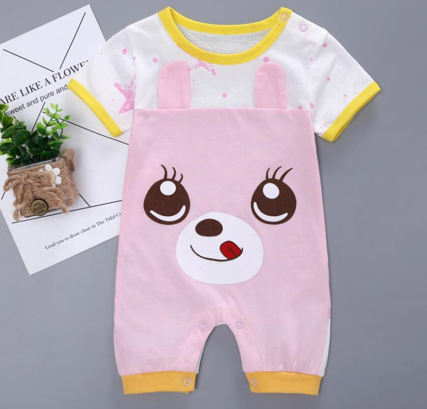 56121cfd56c6 Fashion Cartoon Newborn Baby Rompers Cotton Baby Boy girls Clothes Short  sleeve Infant Jumpsuits Summer Bebe Baby Girls Clothes
