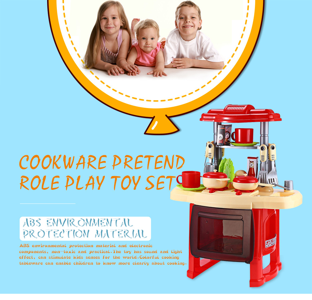 KIDS KITCHEN TOYS BEAUTY COOKING TOY WITH LIGHT SOUND EFFECT FUNNY ...