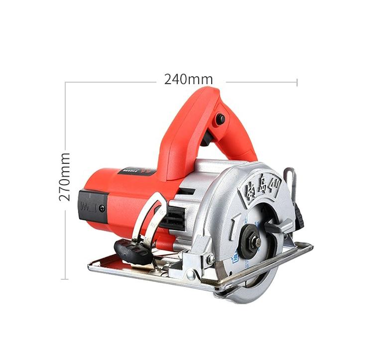 Aletler'ten Elektrikli Testereler'de 220 V 2200 W yüksek güç ev taş/ahşap/karo/duvar yuvası kesme çok fonksiyonlu dairesel testere makinesi makinası testere makinası title=