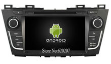 S160 Android 4.4.4 CAR DVD player FOR Mazda 5 car audio stereo Multimedia GPS Quad-Core