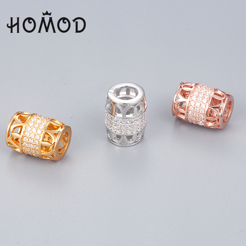 SPINNER Rose Gold Color Copper Charms for Bead Bracelet Fit Pandora Charm Bracelets