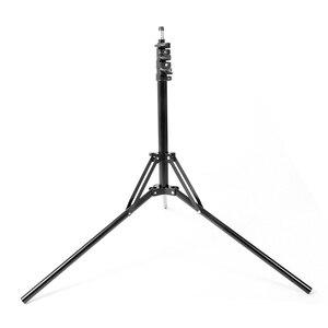 Image 2 - 2メートル6.5ftスタンド三脚折りたたみスタンドライトソフトボックス写真ビデオ照明フラッシュガンランプ用スタンド/傘フラッシュ