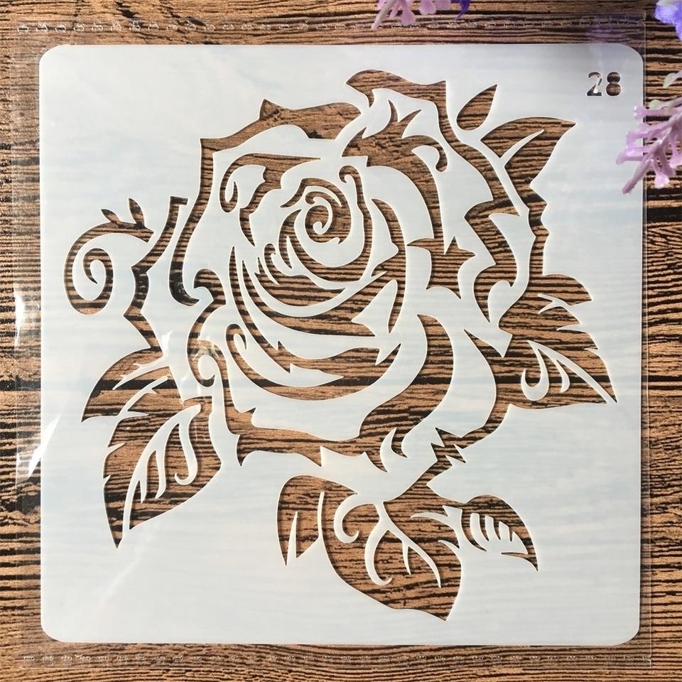 13cm Rose Flower Diy Layering Stencils