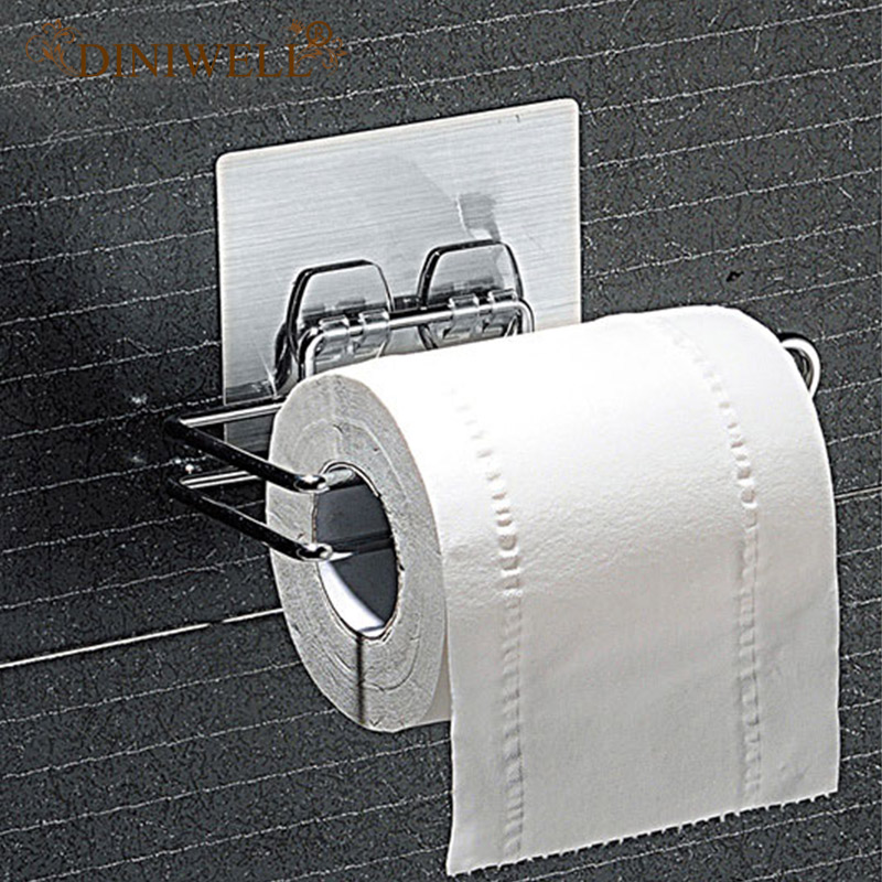 Rolled Towels In Bathroom: DINIWELL Home Storage Shelves Durable Bathroom Roll Paper