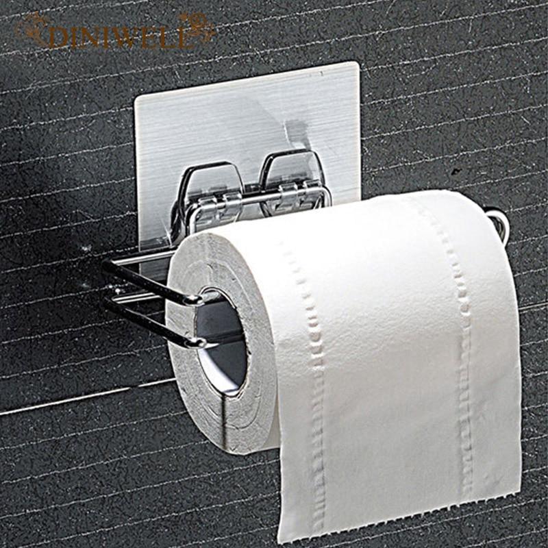 DINIWELL Home Storage Shelves Durable Bathroom Roll Paper Bath Towel Rack For Bathroom Kitchen Toy Key Organizer