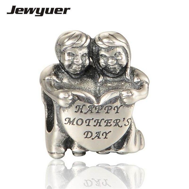 """""""glückliche Mutter Tag"""" Schmuck Von 925 Sterling Silber Vintage Charms Geeignet Für Marke Stil Charme Armbänder & Halsketten Diy Be240"""