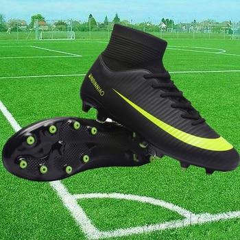 0d9d1d17 Chuteira futebol высокие ботильоны спортивные футбольные бутсы мужские и  женские модели FG Спайк обувь футбольные бутсы, уличные футбольная обувь
