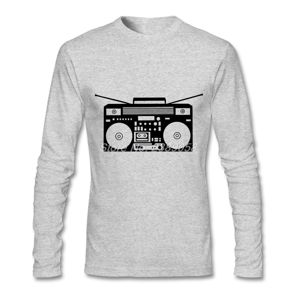 Shirt design latest 2017 - Mens Shirt 2017 Boombox Latest T Shirts New Design Long Sleeve Men Shirt Xs S