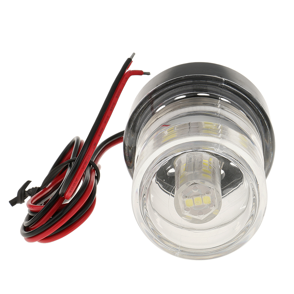 Image 3 - Marine Boat All Round Anchor 360 Degree LED Navigation Light, White 12V Lampara de popa feu de poupe-in Marine Hardware from Automobiles & Motorcycles